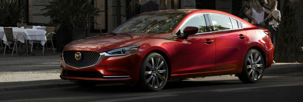 2018 Mazda6 parked on the side of the street