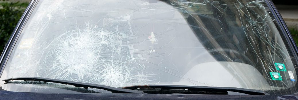 windshield on a vehicle