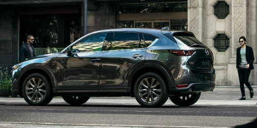 2019 Mazda CX-5 parked on city curb