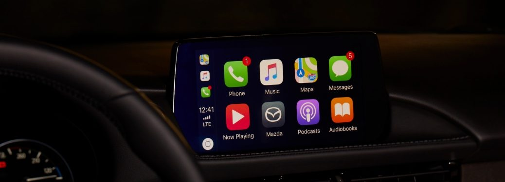 infotainment screen in a Mazda vehicle