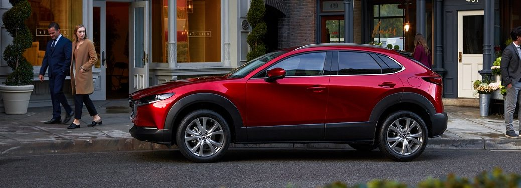 2020 CX-30 parked in front of building
