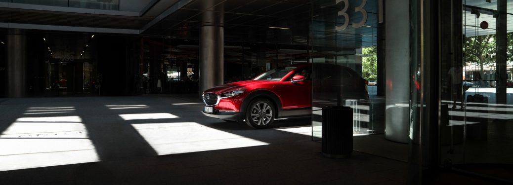 2020 CX-30 parked in upscale building courtyard
