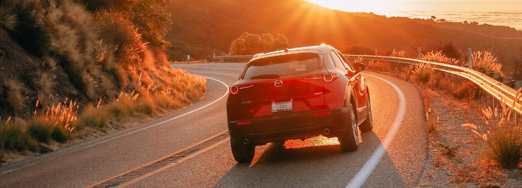 2020 CX-30 driving on winding road