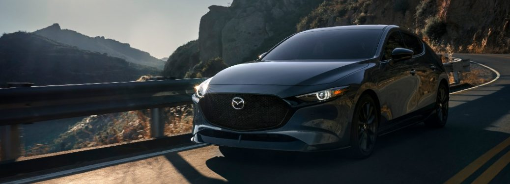 2021 Mazda3 2.5T driving on mountain road