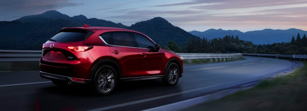 2021 CX-5 driving on mountain road