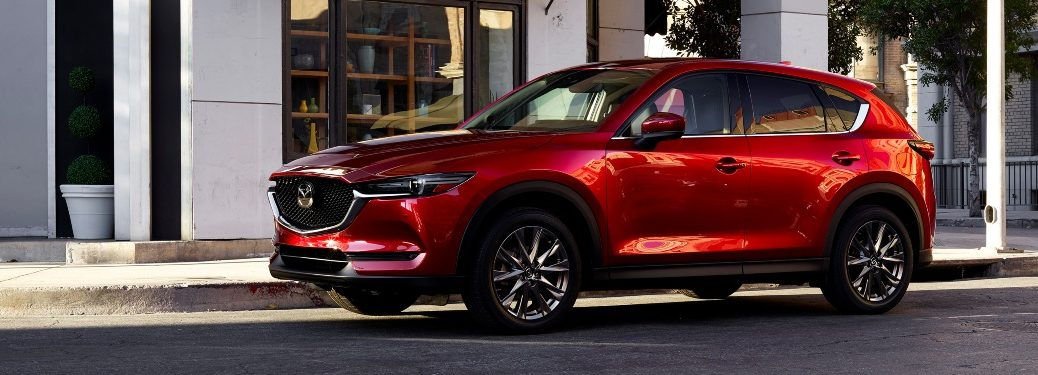 2021 CX-5 parked on street curb
