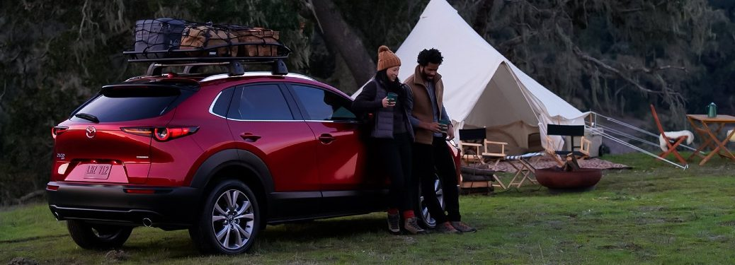 2021 CX-30 parked outside tent