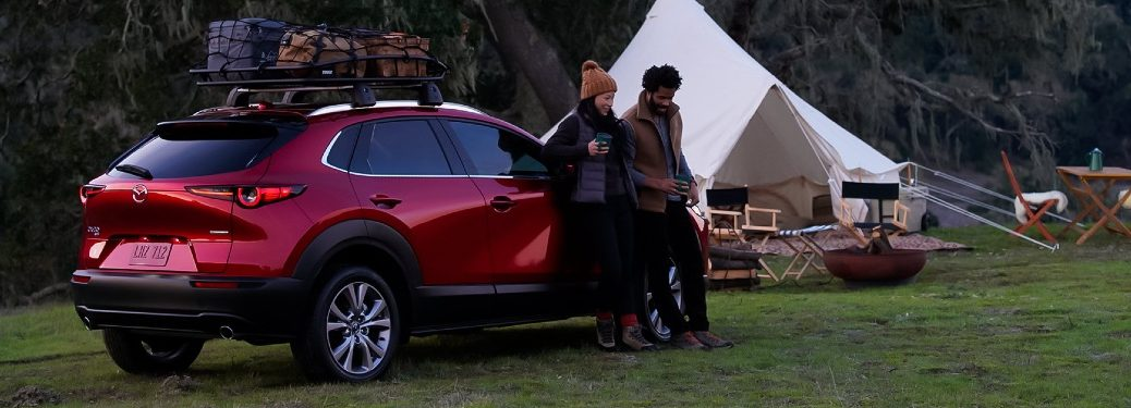 2021 CX-30 parked at campsite