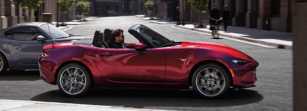 2021 Miata driving with top down
