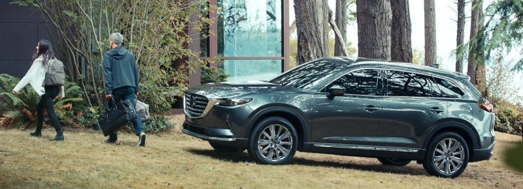 2021 Mazda CX-9 parked outside on the grass