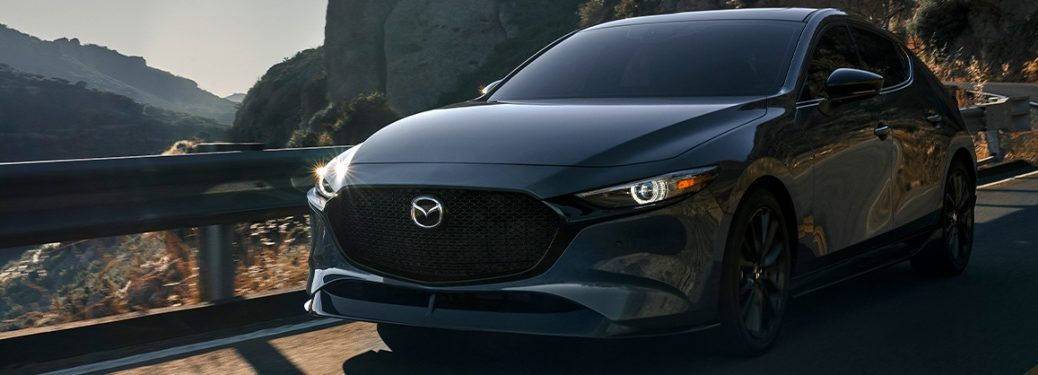 2021 Mazda3 Hatchback going down the road