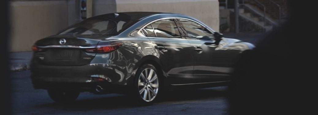 2021 Mazda6 sedan parked on the side of the road