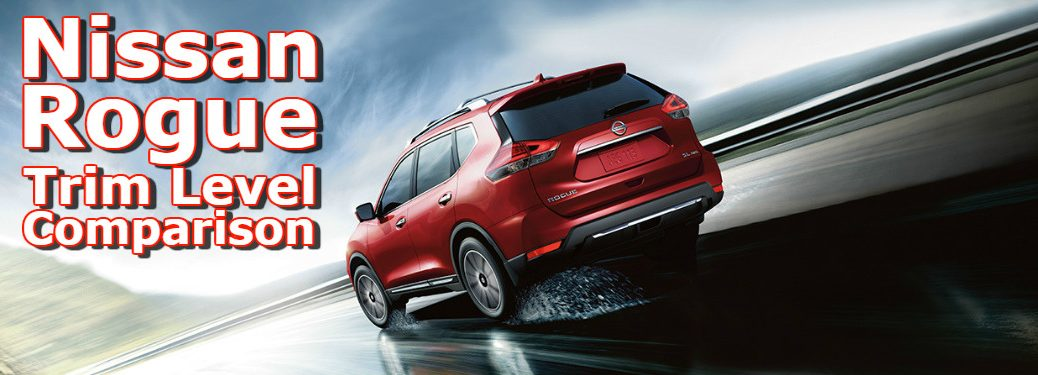 2017 Nissan Rogue red rearview at speed