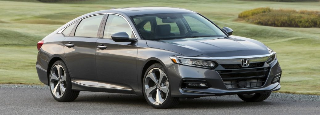 gray 2018 Honda Accord Touring front side view
