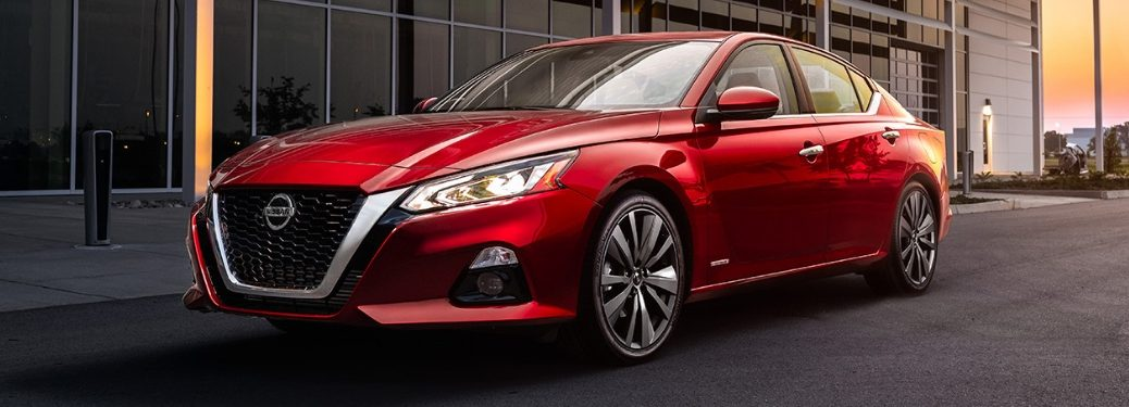 red 2019 altima parked