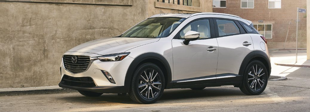 2018 Mazda CX-3 side and front exterior white