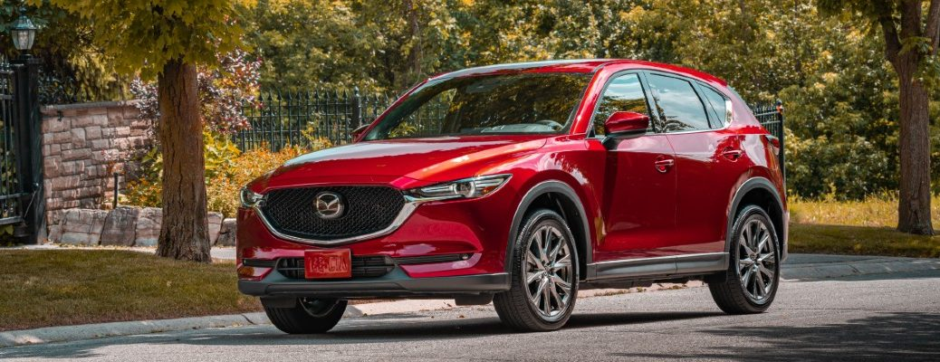 2020 Mazda CX-5 Signature parked downtown