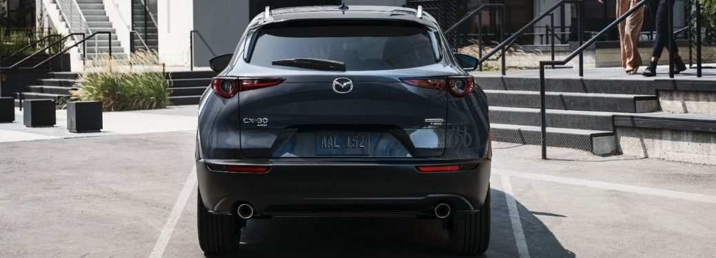 2021 Mazda CX-30 parked rear view