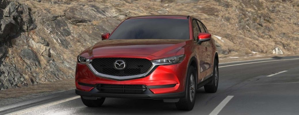 2021 Mazda CX-5 Red driving on the road