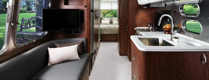 Interior view of the 2020 Airstream Globetrotter