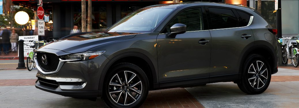 2018 Mada CX-5 side view gray in the city