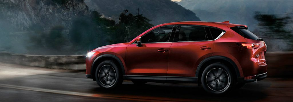 2018 mazda cx-5 driving at night full side view