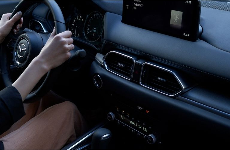 Front dash an steering of the 2022 Mazda CX-5