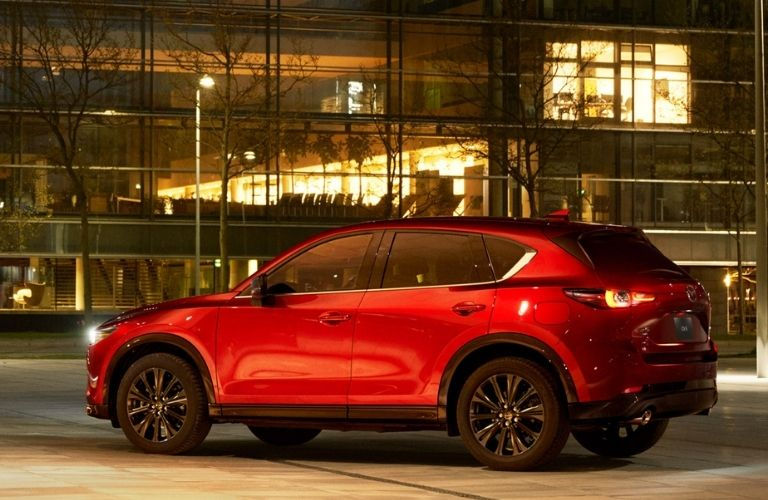 Exterior side view of the 2022 Mazda CX-5