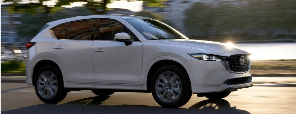 2022 Mazda CX-5 driving on the road