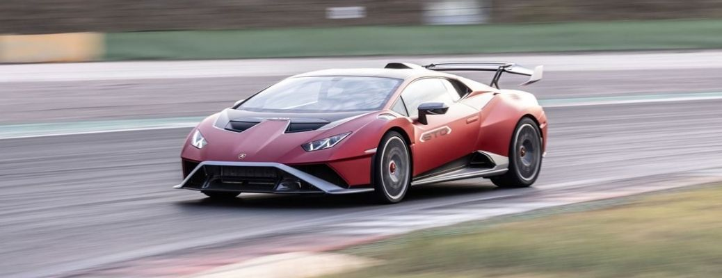 front and side view of the Lamborghini Huracan STO
