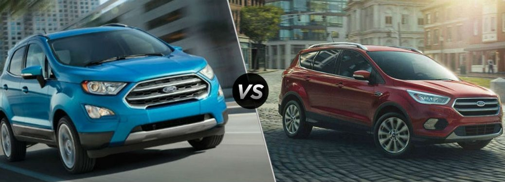 Comparison Image Between  Ford Ecosport And  Ford Escape