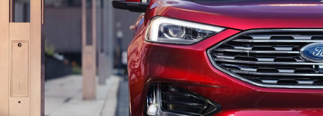 Zoomed In Detail Of Headlights For New  Ford Edge