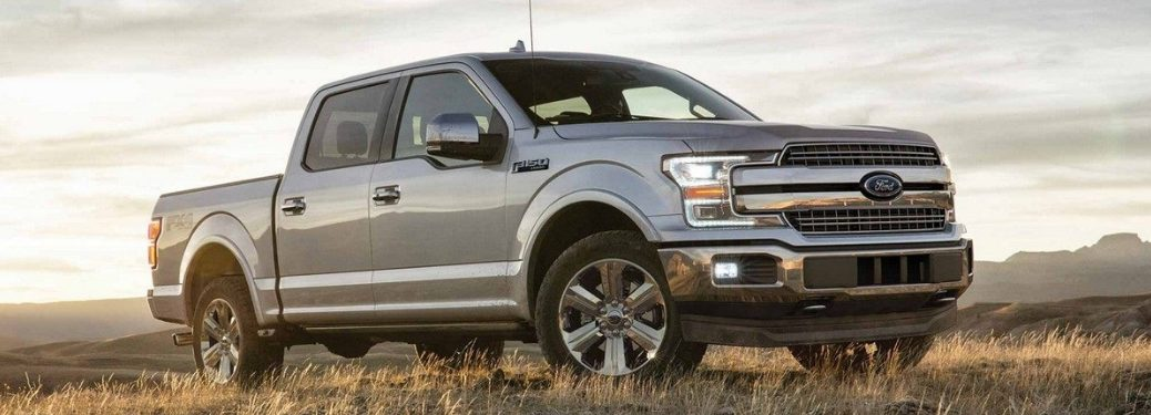 Side view of grey 2018 Ford F-150