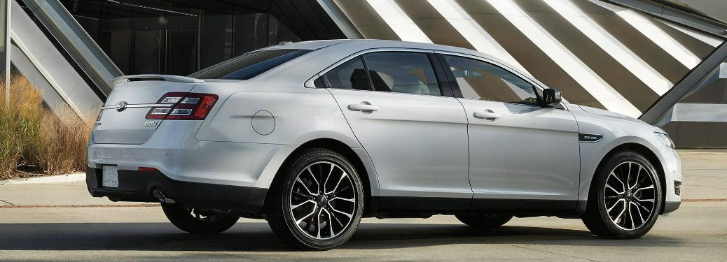 Side view of silver 2019 Ford Taurus