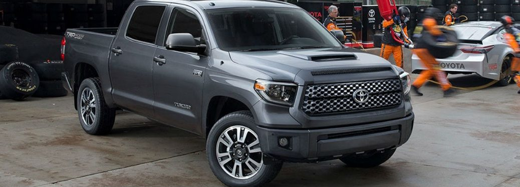 Silver 2018 Toyota Tundra parked on the street