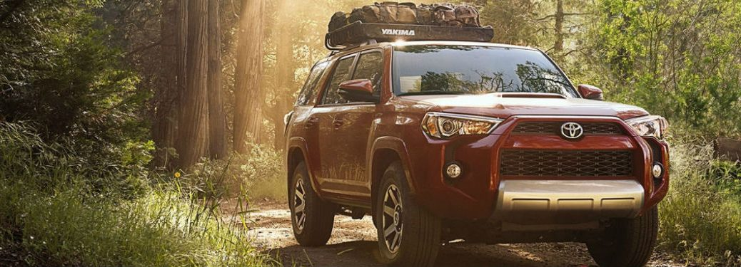 2018 Toyota 4Runner parked in the forest