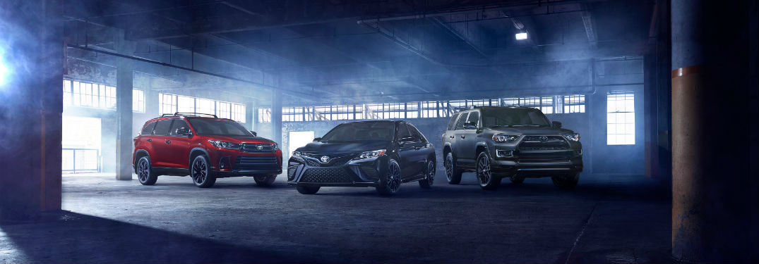 2019 Toyota Camry and Highlander Nightshade Special Editions