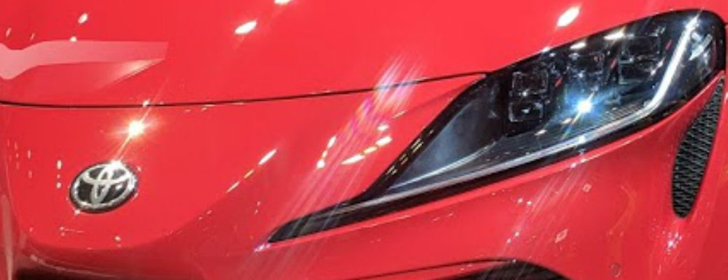 Headlight on red 2020 Toyota Supra