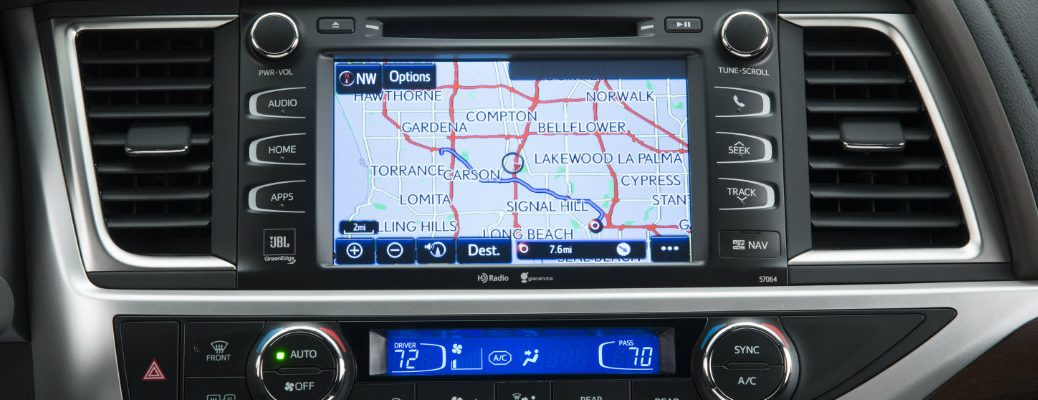 Map in the Entune infotainment system