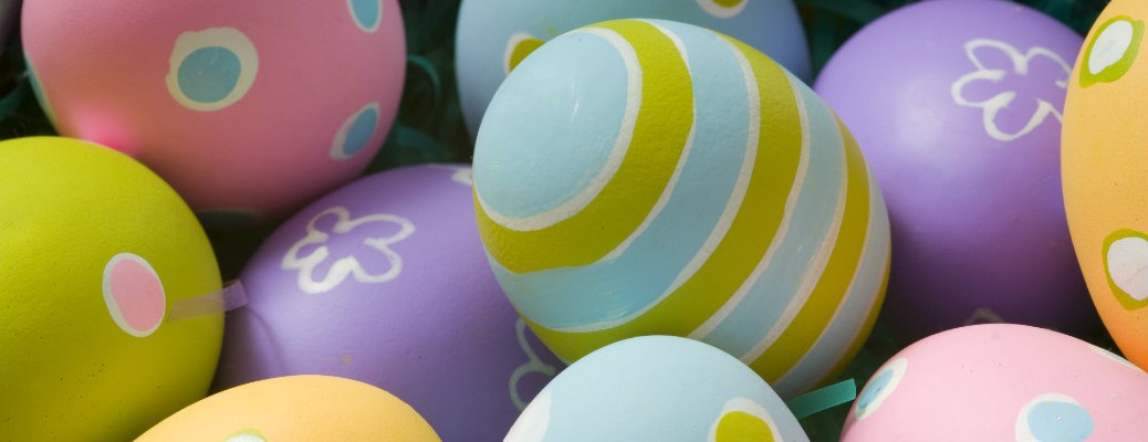 Colored eggs for the Easter holiday