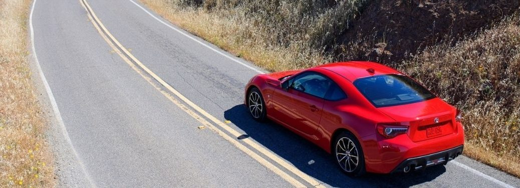 2020 Toyota 86 driving on the road