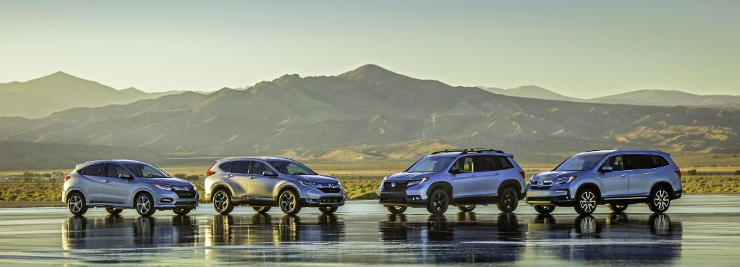 What is the Honda Passport? with an image of the all-new 2019 Honda Passport model lineup with mountains in the background
