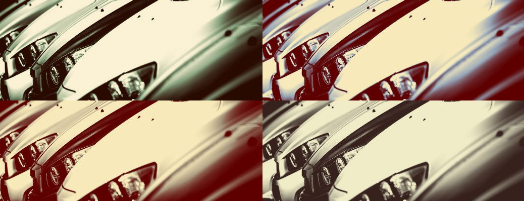 4-image collage of vehicles in different tones
