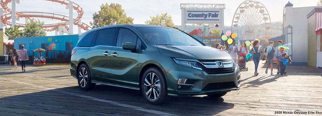 2020 Odyssey parked by carnival/fair