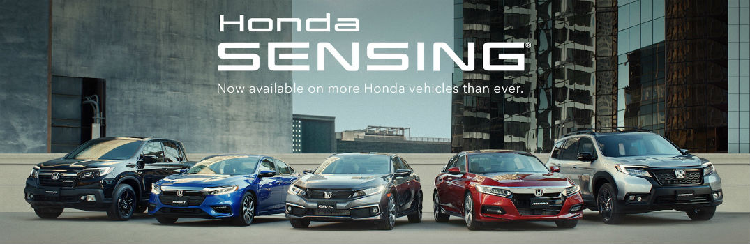 What does the Honda Sensing safety suite include?