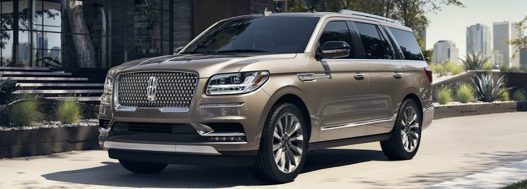 Front view of light brown 2019 Lincoln Navigator