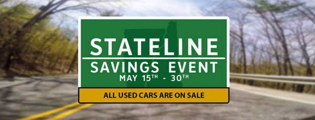 Stateline Used Car Savings Event White River Junction VT at white River Toyota-Berlin VT-Randolph VT-Used Car Sale-New Toyota