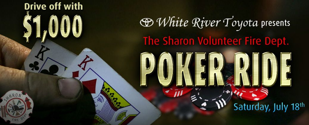 Charity Poker Run for the Sharon Volunteer Fire Department Vermont by White River Toyota-White River Junction VT-Berlin VT-Randolph VT-Hanover NH-Sharon VT-Local Charity Events in Vermont-New Toyota Dealer-Community Events