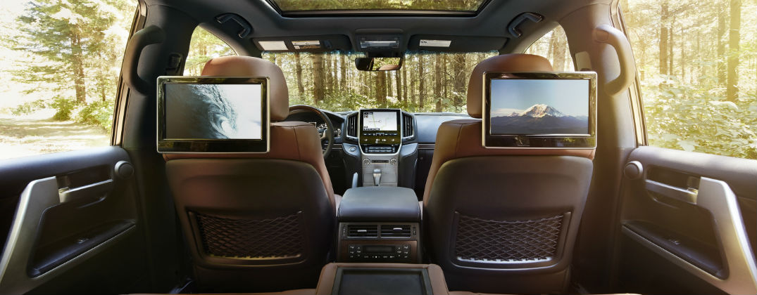 5 Things You Need to Know About the 2016 Toyota Land Cruiser at White River Toyota-White River Junction VT-Berlin VT-Randolph VT-New Toyota Dealer-2016 Toyota Land Cruiser Rear Entertainment System