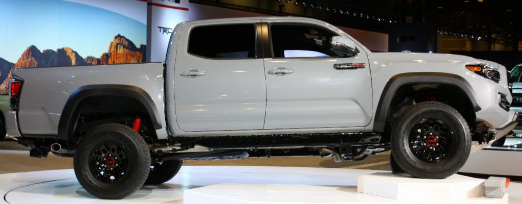 Official 2017 Toyota Tacoma TRD Pro Release Date at White River Toyota-White River Junction VT-Cement 2017 Toyota Tacoma TRD Pro Exterior Profile-2016 Chicago Auto Show Debut